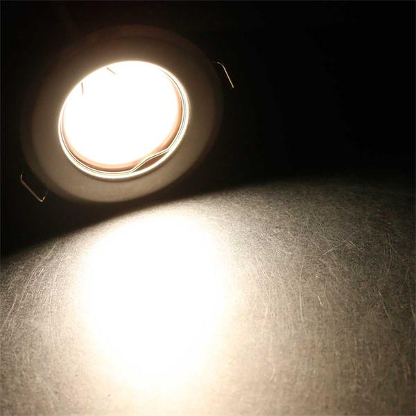 3er Set neutralweiß-leuchtende LED Einbauleuchten RFW3NW