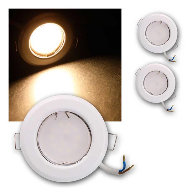 3er Set LED Einbauleuchten RFW5WW 230V 5W warm