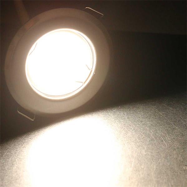 5er Set  neutralweiß-leuchtende LED Einbauleuchten RFW5NW