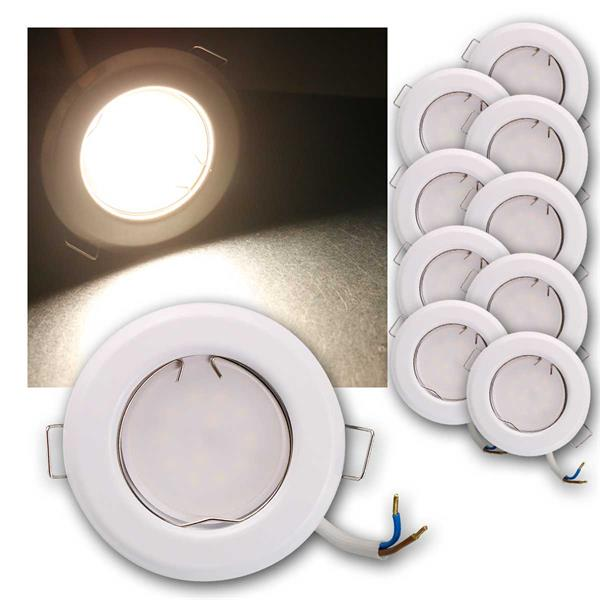 10er Set LED Einbauleuchten RFW5NW 230V 5W neutr