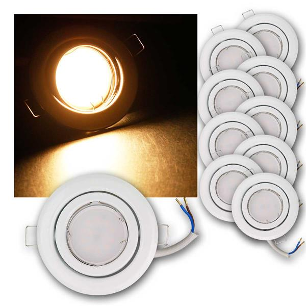10er Set LED Einbauleuchten RSW5WW 230V 5W warm