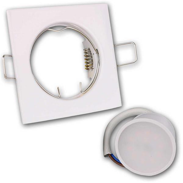 10er Set weiße LED Einbauleuchten anschlussfertig für 230V