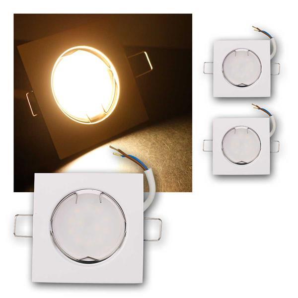 3er Set LED Einbauleuchten EFW5WW 230V 5W warm