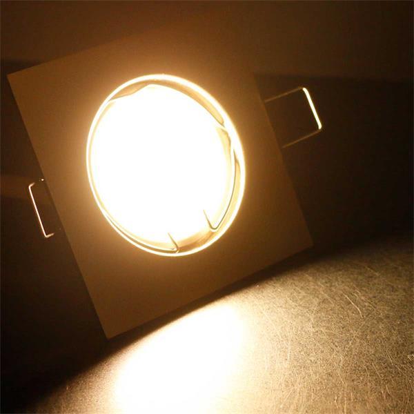10er Set warmweiß-leuchtende LED Einbauleuchten EFW5WW