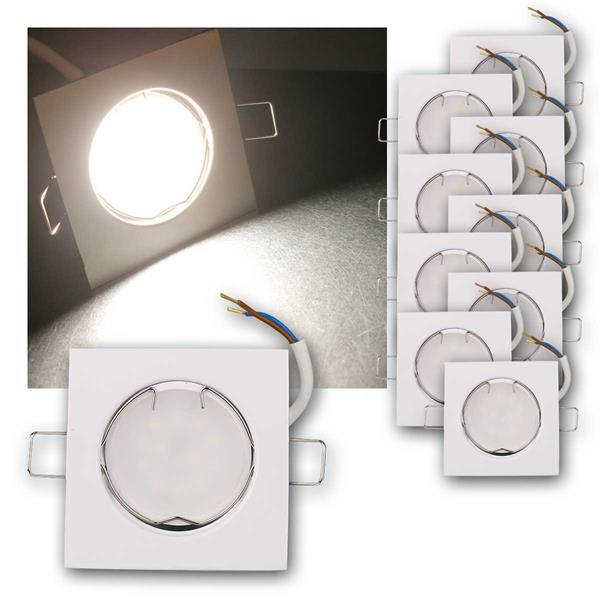 10er Set LED Einbauleuchten EFW5NW 230V 5W neutr