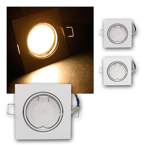 3er Set LED Einbauleuchten ESW3WW 230V 3W warm