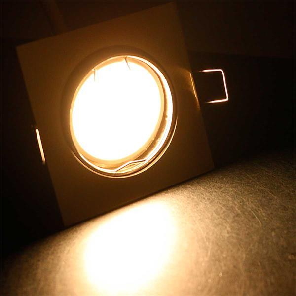10er Set warmweiß-leuchtende LED Einbauleuchten ESW3WW