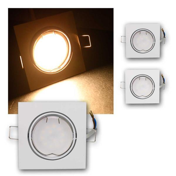3er Set LED Einbauleuchten ESW5WW 230V 5W warm