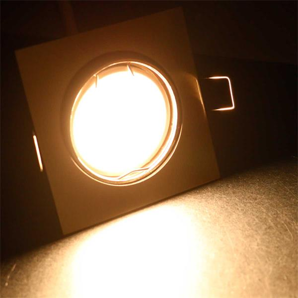 10er Set warmweiße LED Einbaustrahler ESW5WW