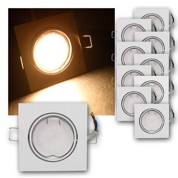 10er Set LED Einbauleuchten ESW5WW 230V 5W warm