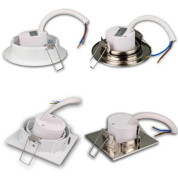 LED- Einbauleuchten zum direkten Anschluss an 230V