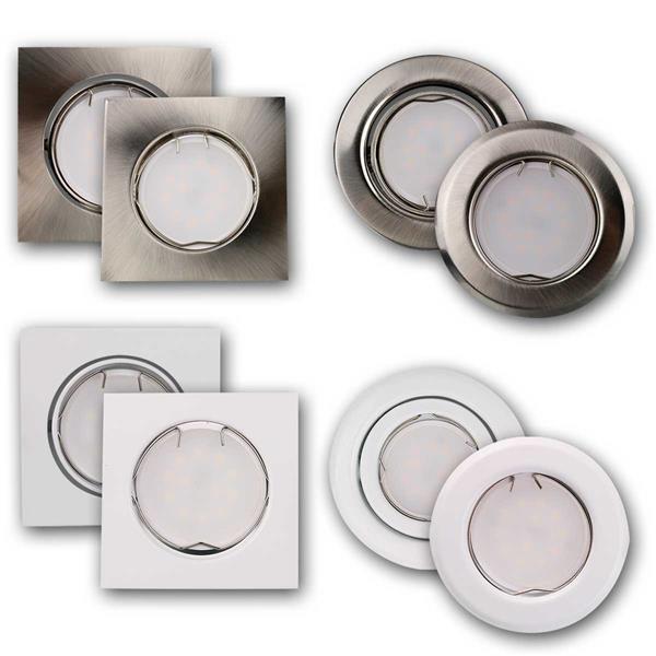 LED- Einbaustrahler in 96 Typen anschlussfertig für 230V