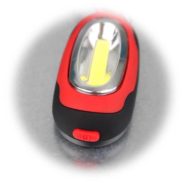 Karabiner-Leuchte mit COB LEDs und Magnet