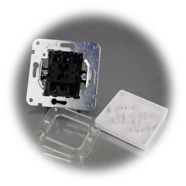 40 Unterputz Wechsel-Schalter MILOS weiß matt ohne Rahmen