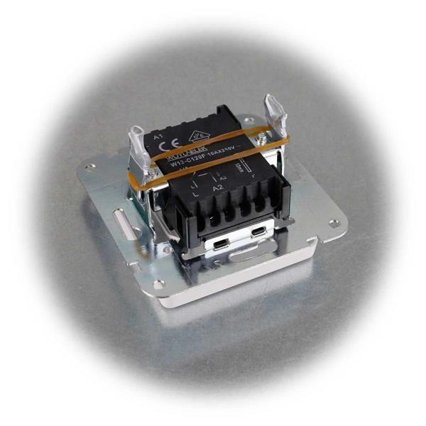 40 mattweiße UP Wechsel-Schalter MILOS mit Klemmanschluss