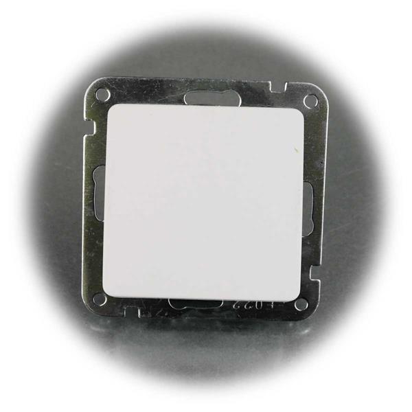 Die weißen UP Wechsel-Schalter sind mit Elementen der MILOS-Serie kombinierbar