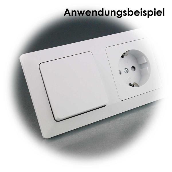 Weiße UP Wechsel-Schalter MILOS kombinierbar mit MILOS- Rahmen