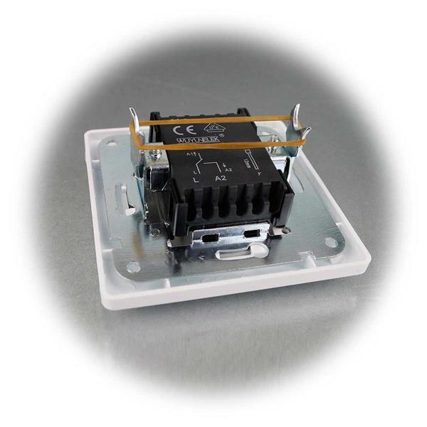 MILOS UP-Wechselschalter weißmatt mit Rahmen im 10er Set