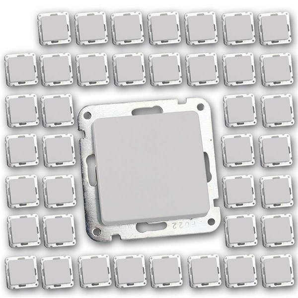 40 MILOS Wechsel-Schalter weiß matt ohne Rahmen UP