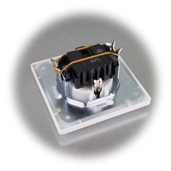 10er Set UP Schutzkontakt-Steckdosen mit Rahmen aus der MILOS-Serie