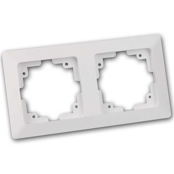 MILOS 2-fach Rahmen, weiß matt, Doppelrahmen