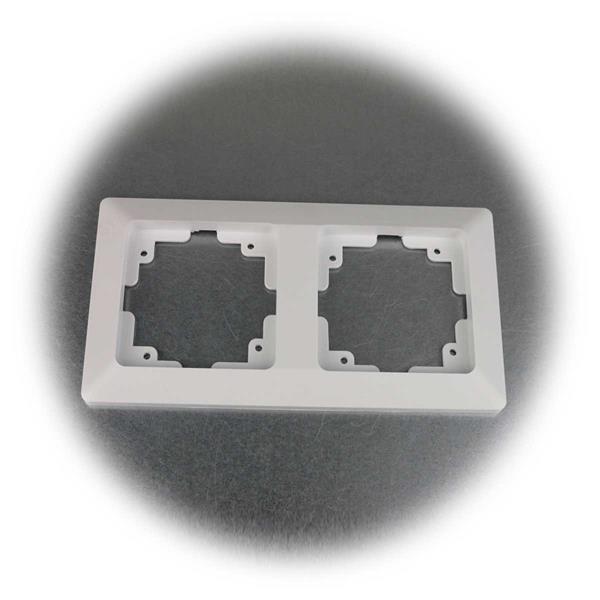Mattweißer MILOS Doppelrahmen für MILOS Steckdosen und Schalter