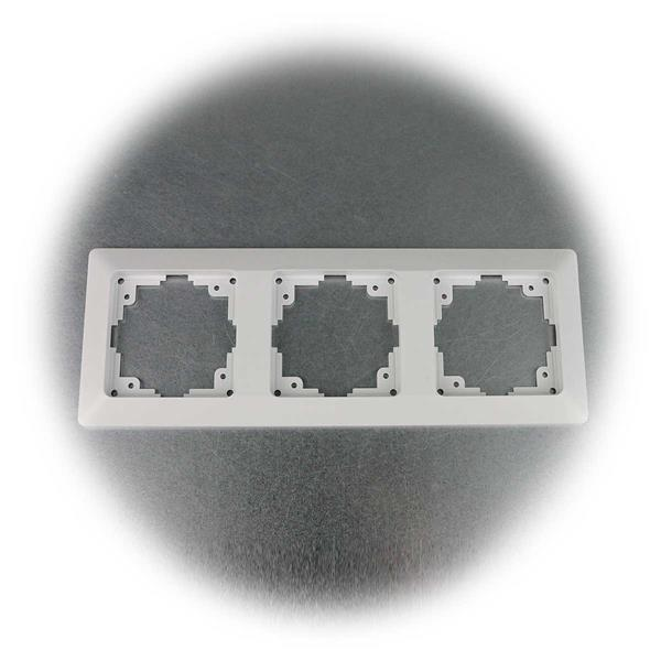 10er Set mattweiße Dreifach Rahmen der MILOS Schalter-Serie