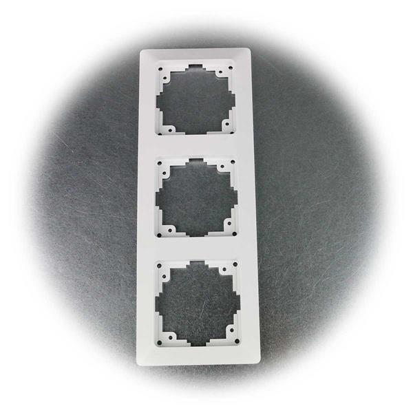 10x Dreifach Rahmen der MILOS-Serie zur Längs- und Quermontage