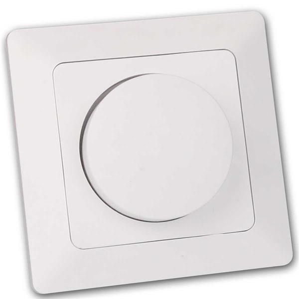MILOS Dimmer für LED Lampen weiß matt, mit Rahmen