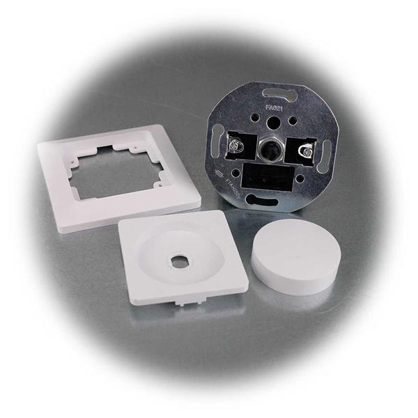 Mattweißer Phasenaschnitt- Dimmer für LED Lampen mit Rahmen