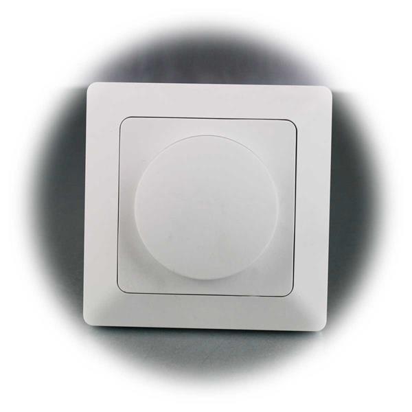 MILOS LED-Dimmer mit Rahmen für elektronische Trafos