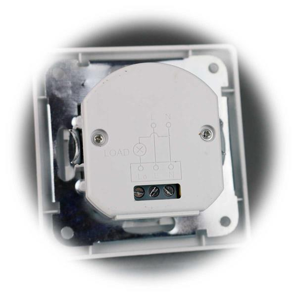 MILOS Unterputz-Bewegungsmelder mit 7m PIR Sensor