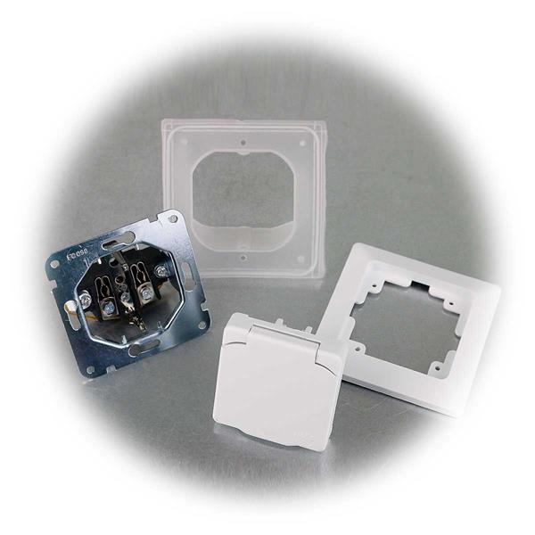 MILOS Steckdose mit Deckel IP44 für Feuchträume