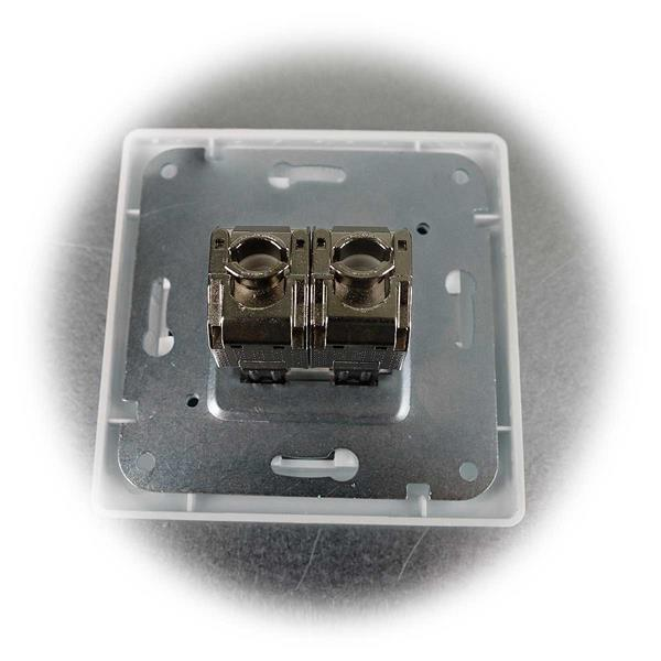 MILOS Netzwerkdose inkl. Rahmen zur Unterputz-Montage