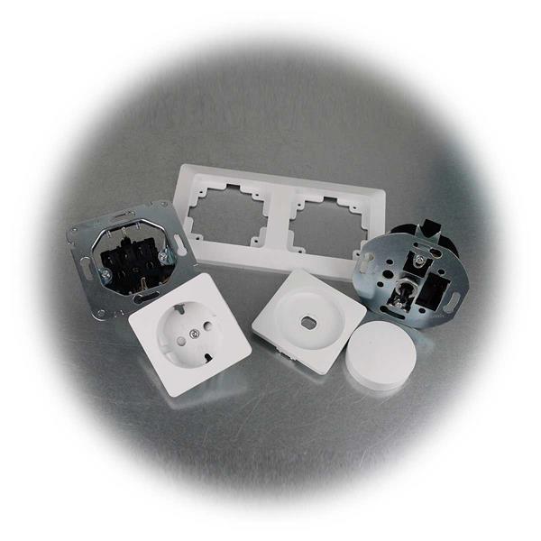 MILOS Kombination aus Steckdose und LED Dimmer mit  Rahmen