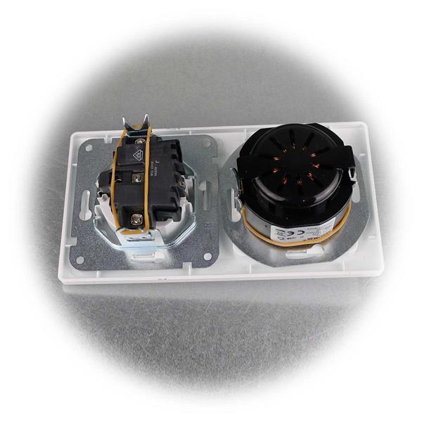UP-Schutzkontakt-Steckdose mit LED Dimmer aus der Serie MILOS