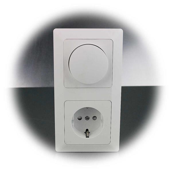 LED Dimmer mit Schutzkontakt-Steckdose aus der MILOS-Serie