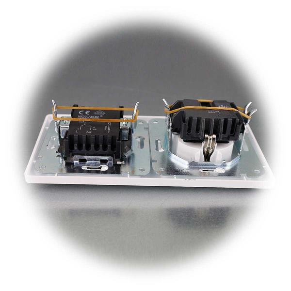 MILOS Steckdosen-Wechselschalter-Kombination mit Rahmen