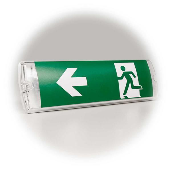 seitlicher oder rückseitiger Kabelanschluss möglich, Dauerlicht oderBereitschaftsschaltung