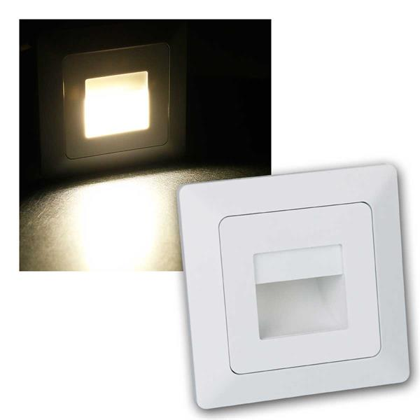 MILOS LED Einbauleuchte COB, weiß matt mit Rahmen