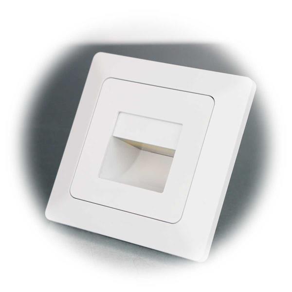 MILOS Einbauleuchte mit COB-LED und mattweißem Rahmen
