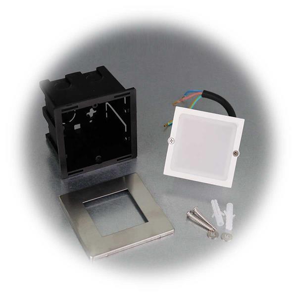LED-Einbauleuchte in 2 Leuchtfarben mit IP65 Spritzwasserschutz