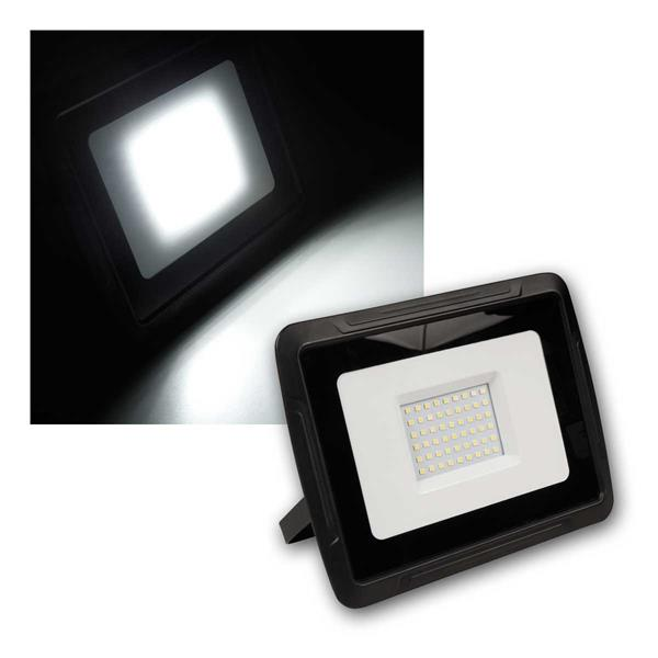 "LED Fluter ""Super-Slim"" 30W 2400Lm, neutralw, IP44"