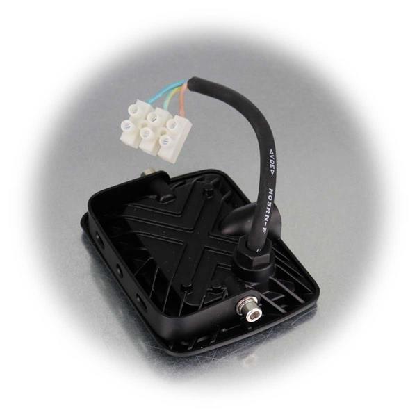 Spritzwassergeschützter LED Fluter, neutralweiß, Aluminiumgehäuse