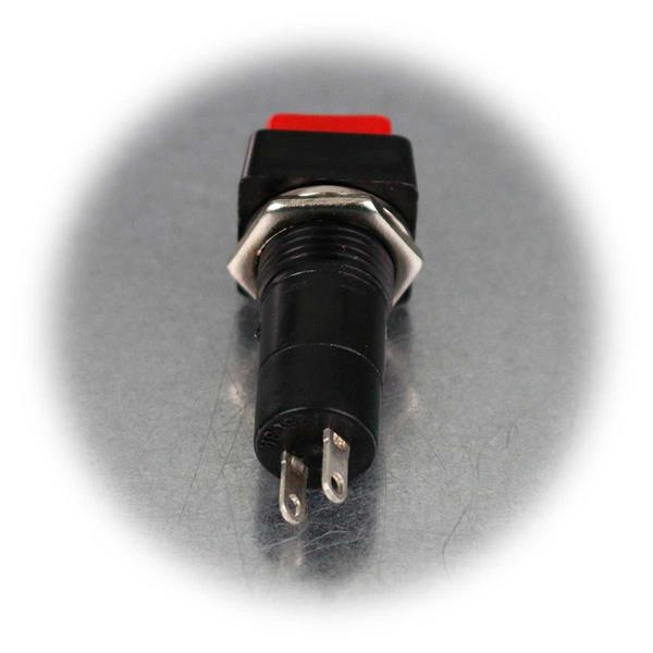 Drucktaster mit Lötanschluss und Befestigungsmutter