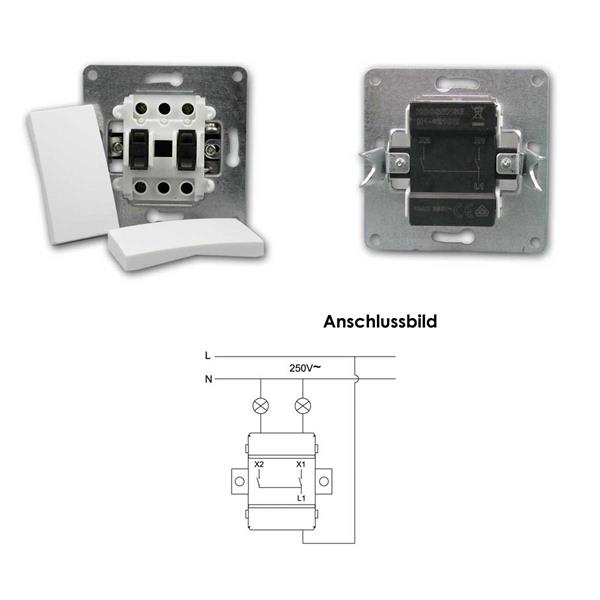 FLAIR Schalter mit doppelter Wippe für eine Serienschaltung