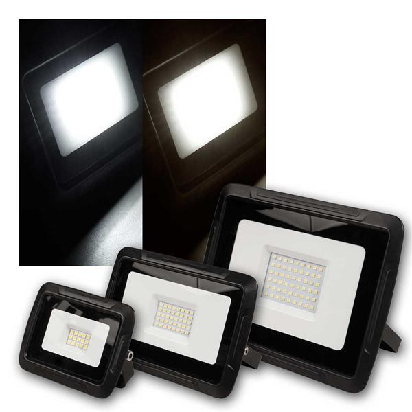 LED Fluter SUPER SLIM 10/30/50W, IP44, warm/neut