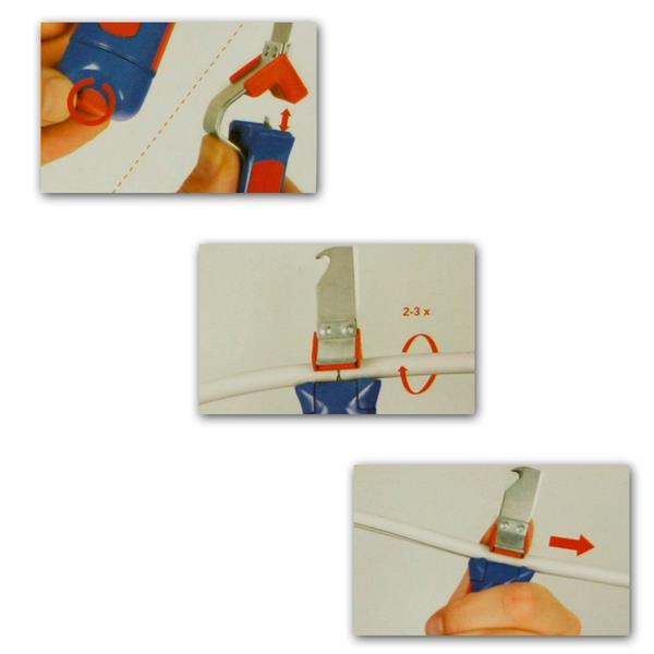 Abmantler mit herausnehmbaren Kunststoff-Reduziereinsatz
