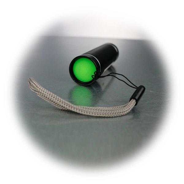 Geldscheinprüfer mit Trageriemen, 1 LED, ultraviolettes Licht