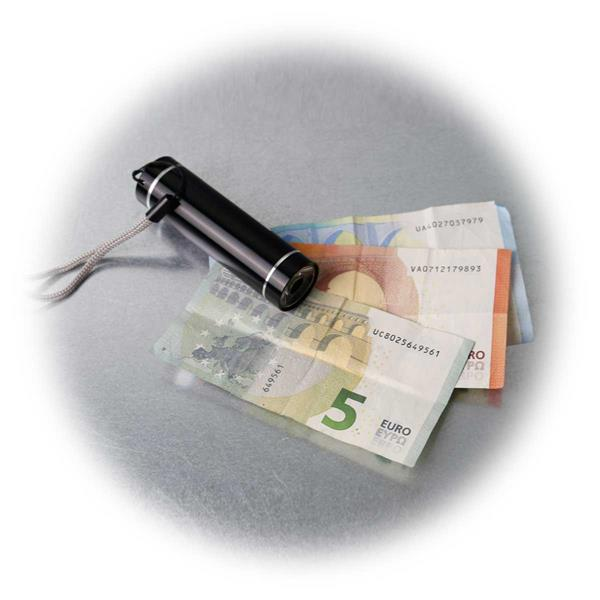LED UV Taschenlampe, Aluminium, Geldscheinprüfer, 1 LED
